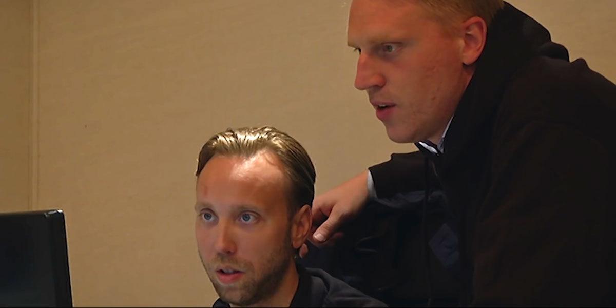 """Johan """"vesslan"""" Ryman och Erik Åkerfeldt är grundare av Znipe."""